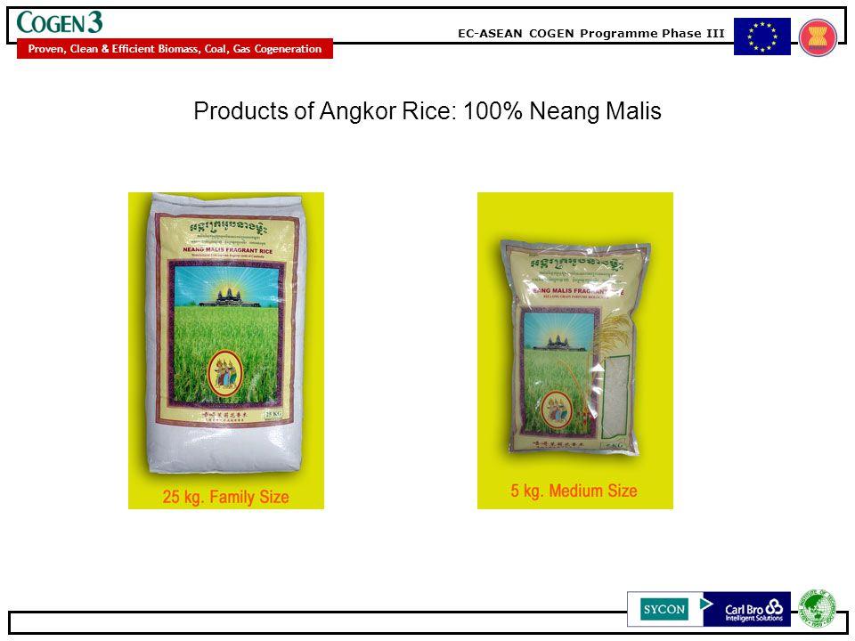 Products of Angkor Rice: 100% Neang Malis