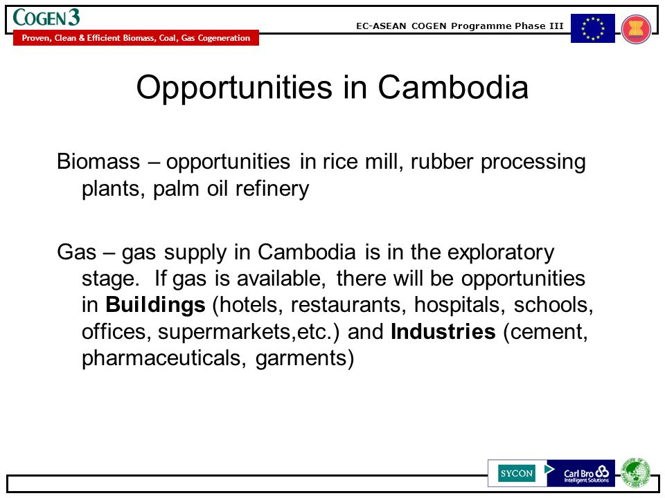 Opportunities in Cambodia