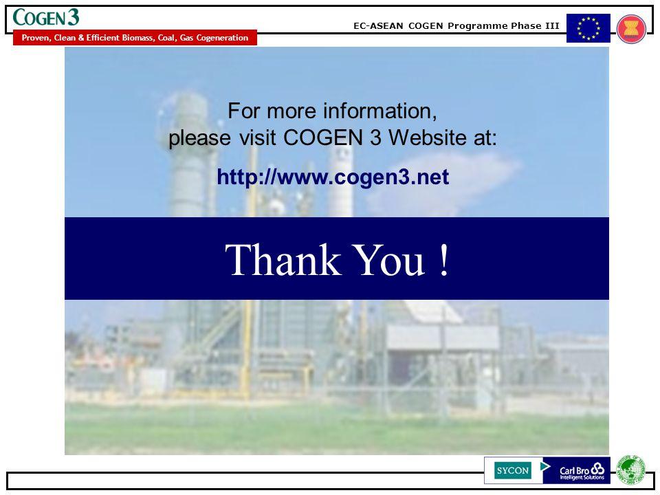 For more information, please visit COGEN 3 Website at: