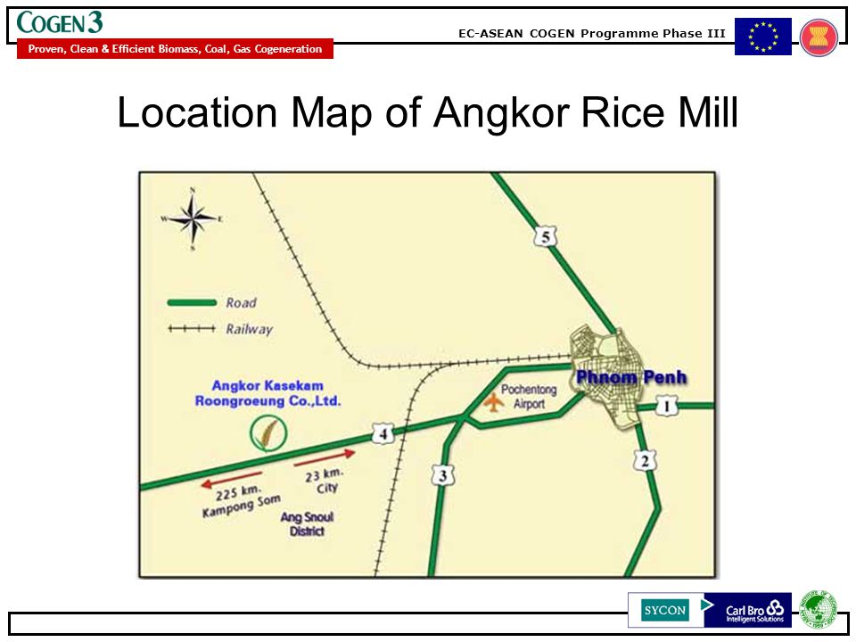 Location Map of Angkor Rice Mill