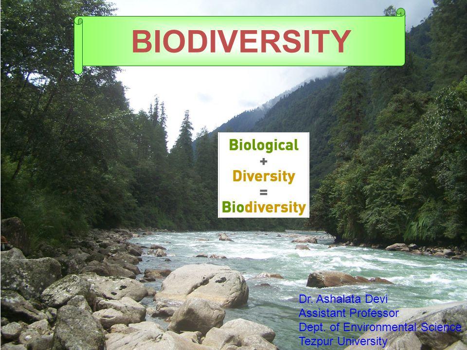 BIODIVERSITY Dr. Ashalata Devi Assistant Professor