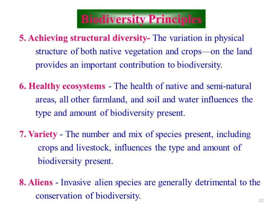 Biodiversity Principles