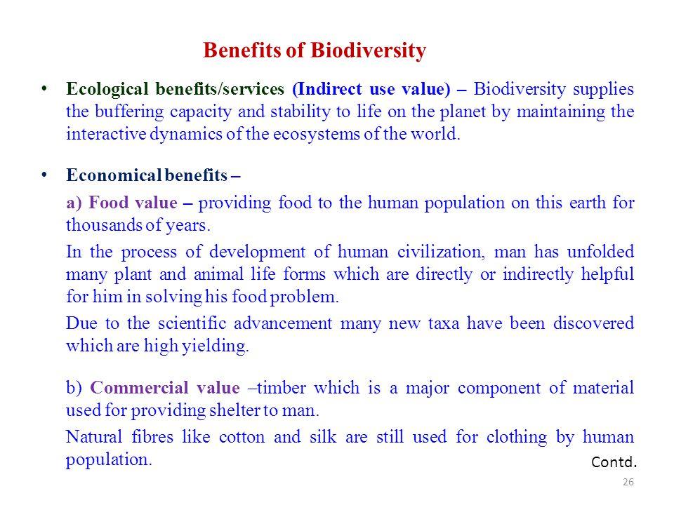 Benefits of Biodiversity