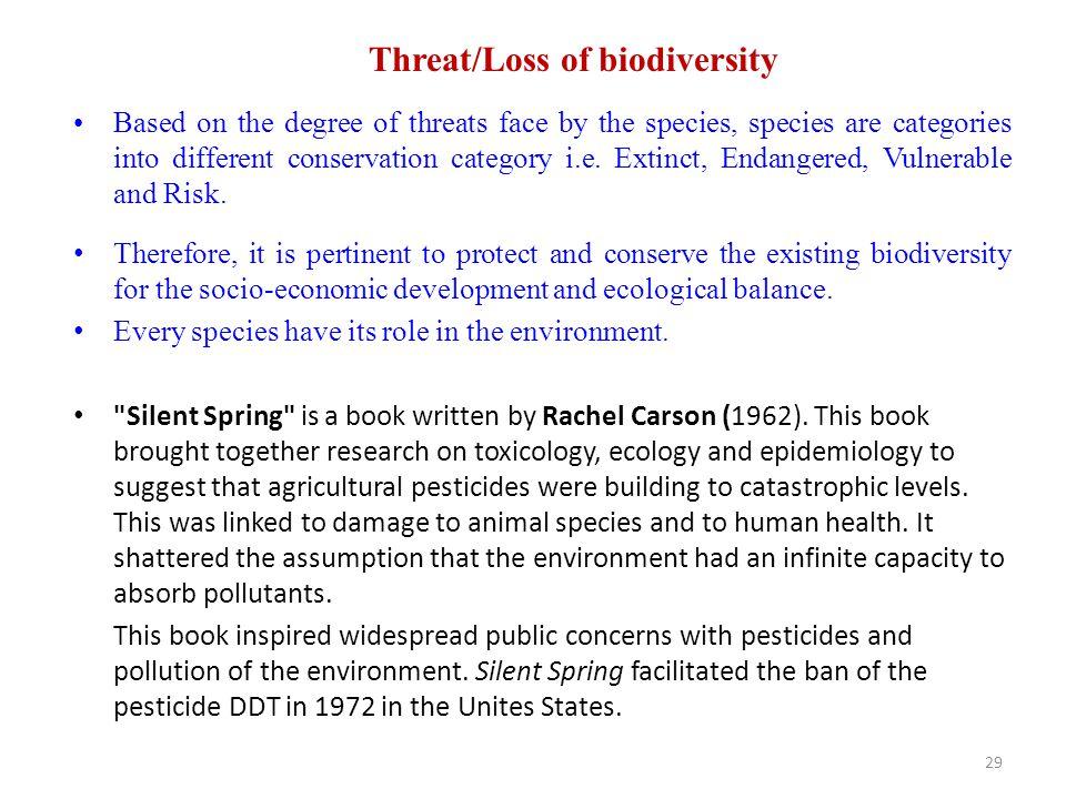 Threat/Loss of biodiversity