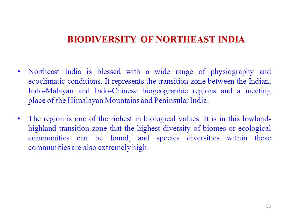 BIODIVERSITY OF NORTHEAST INDIA