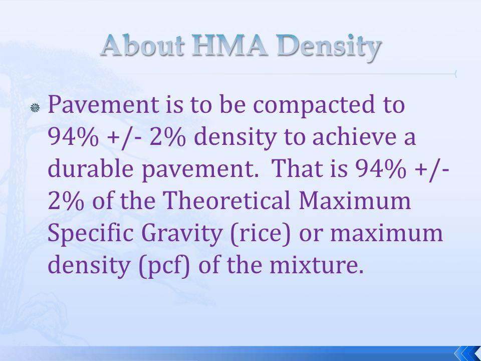 About HMA Density