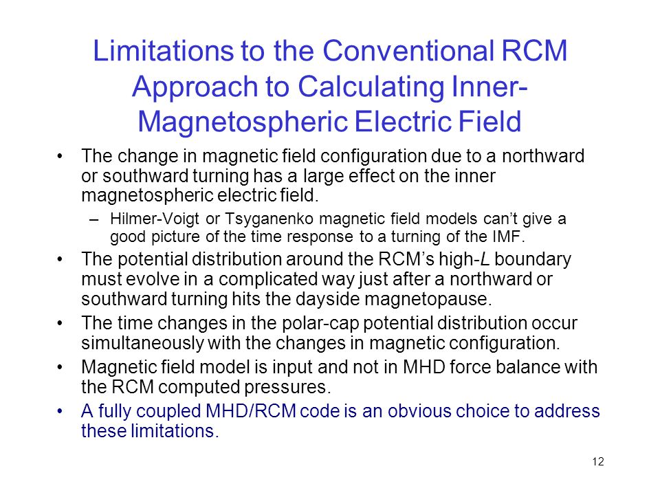 Limitations to the Conventional RCM Approach to Calculating Inner-Magnetospheric Electric Field