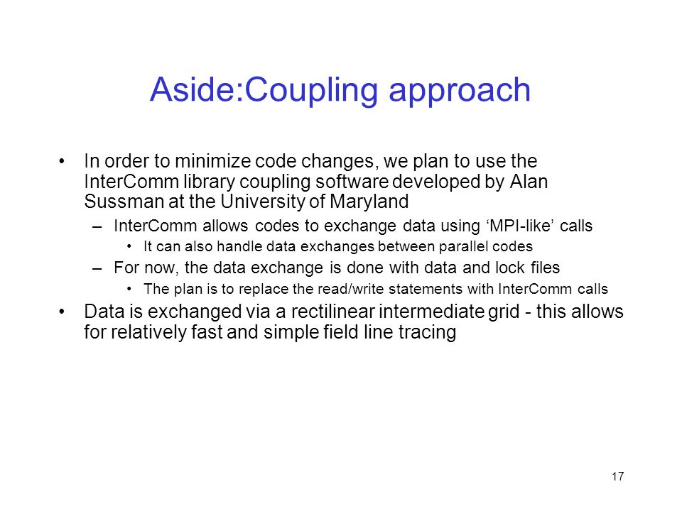 Aside:Coupling approach