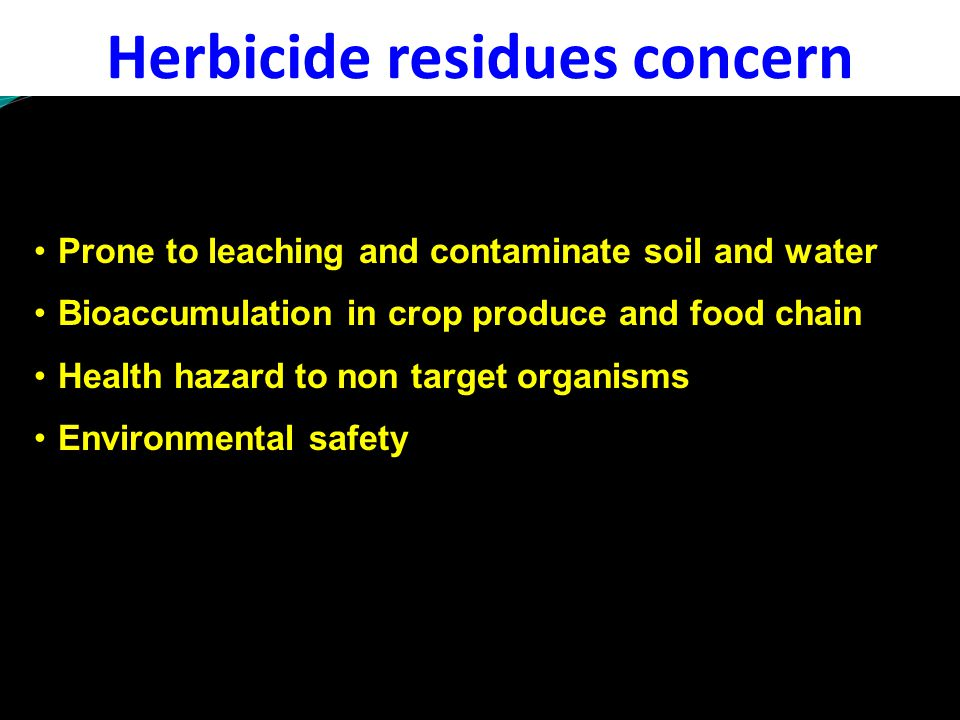 Herbicide residues concern