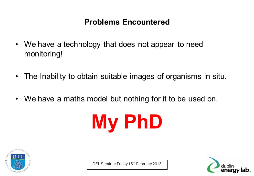 My PhD Problems Encountered