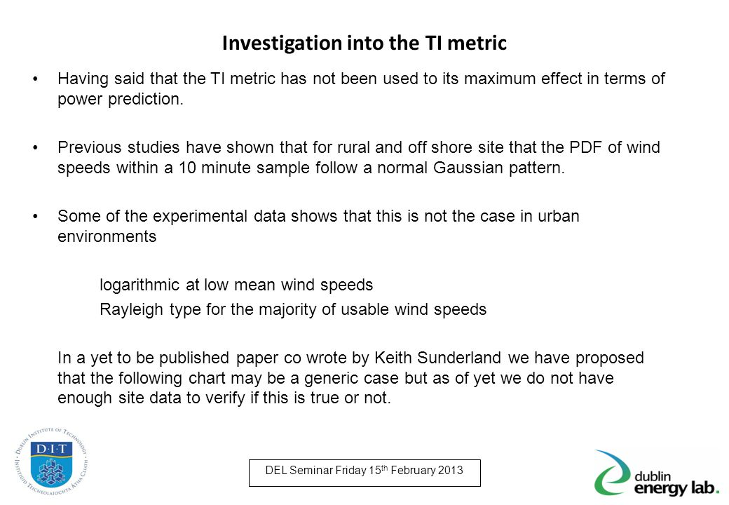 Investigation into the TI metric