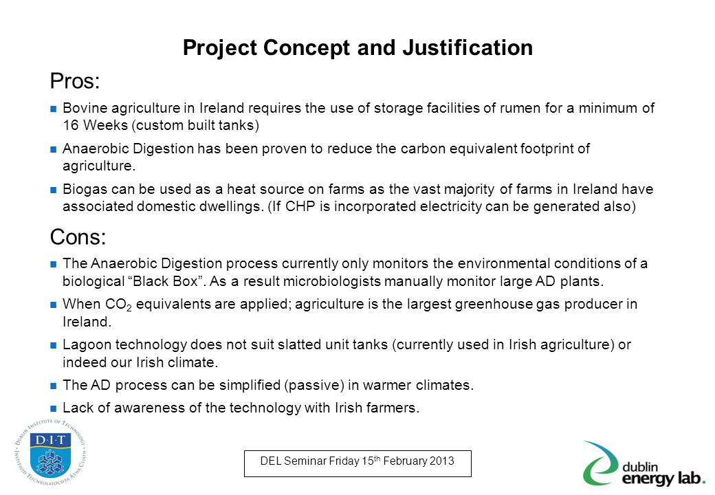 Project Concept and Justification