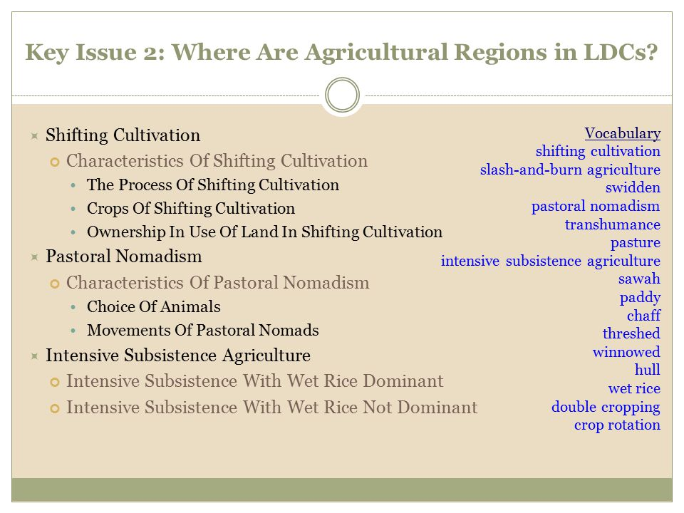 Key Issue 2: Where Are Agricultural Regions in LDCs