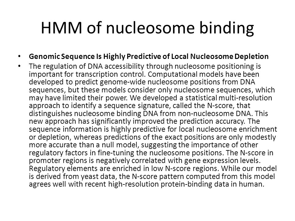 HMM of nucleosome binding