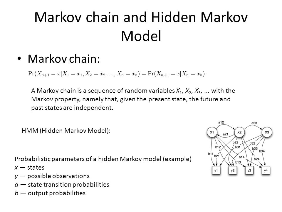 Markov chain and Hidden Markov Model