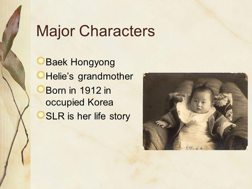 Major Characters Baek Hongyong Helie's grandmother