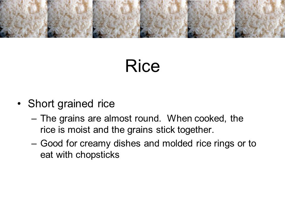 Rice Short grained rice