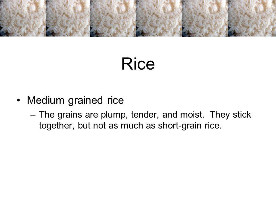 Rice Medium grained rice