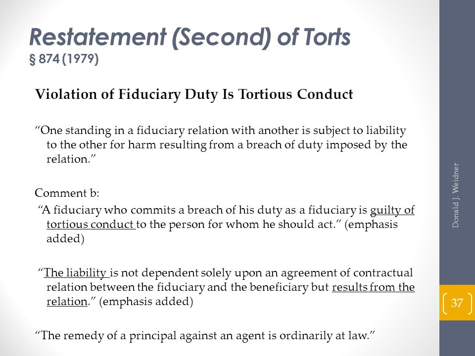Restatement (Second) of Torts § 874 (1979)