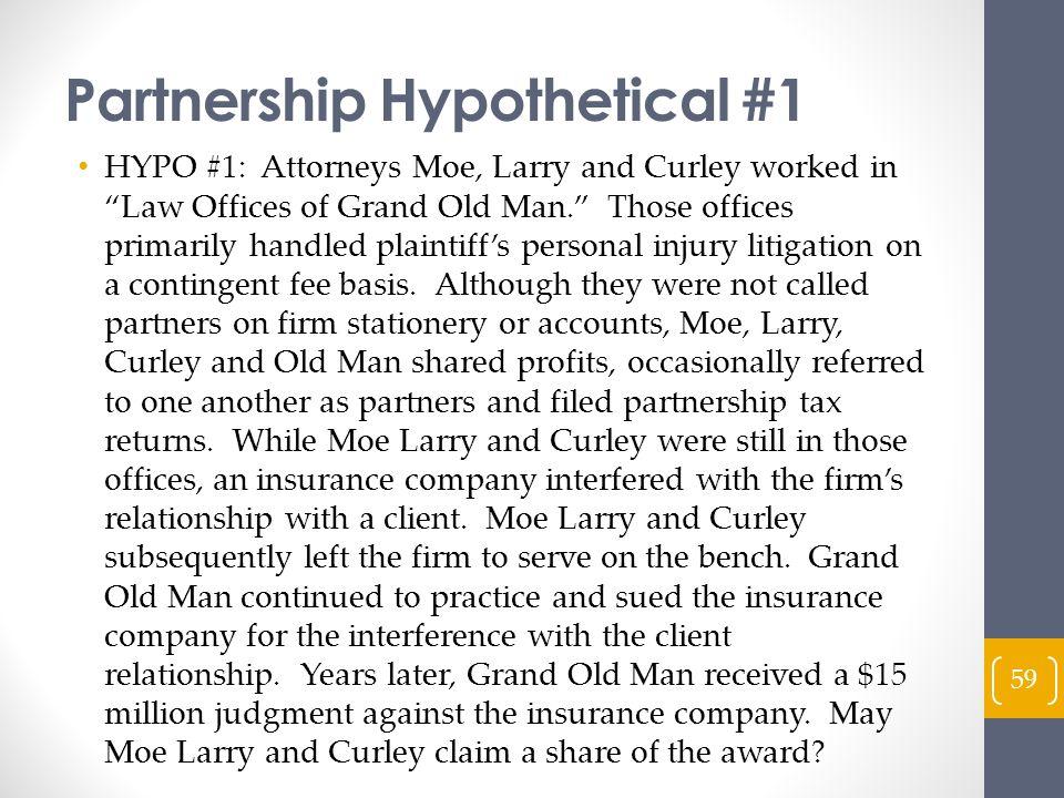 Partnership Hypothetical #1