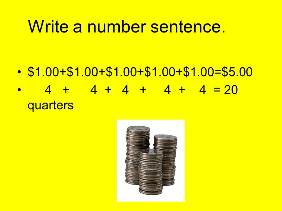 Write a number sentence.