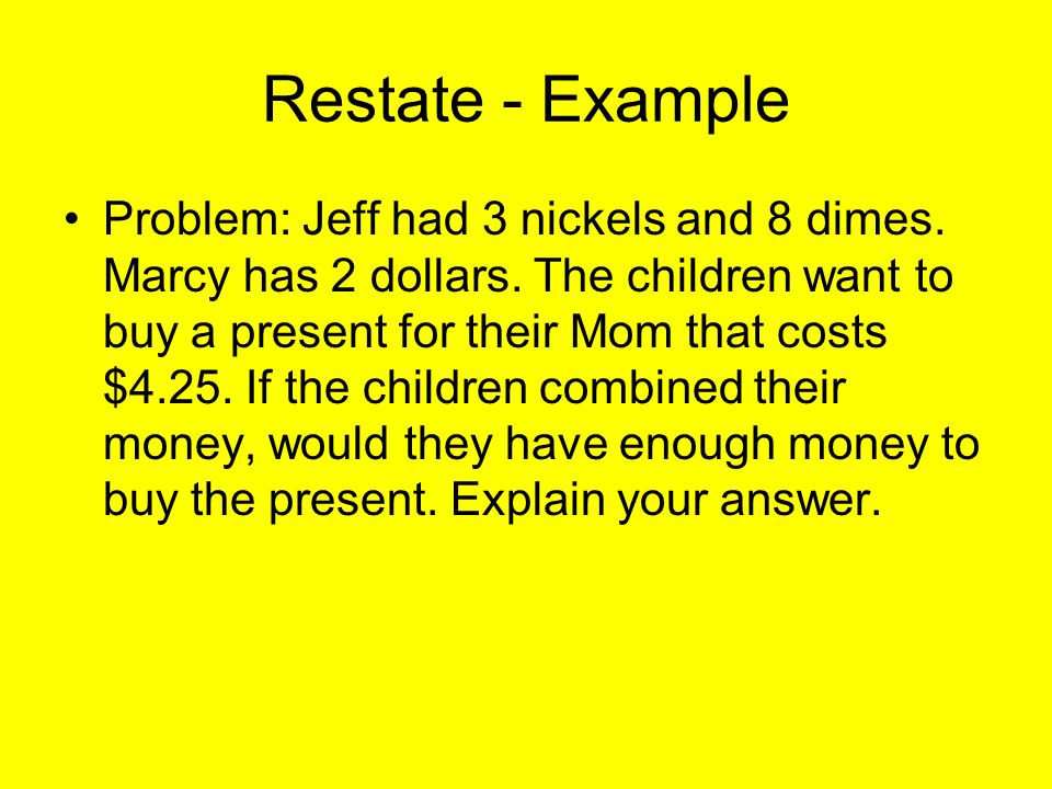Restate - Example