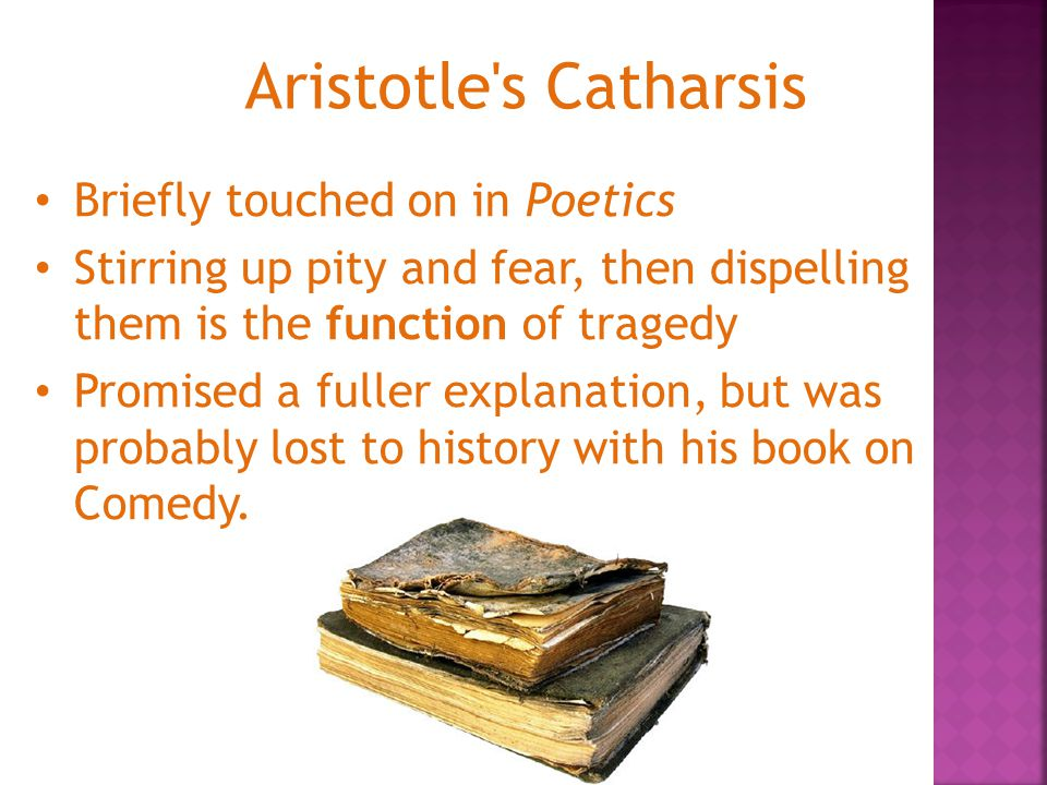 Aristotle s Catharsis Briefly touched on in Poetics