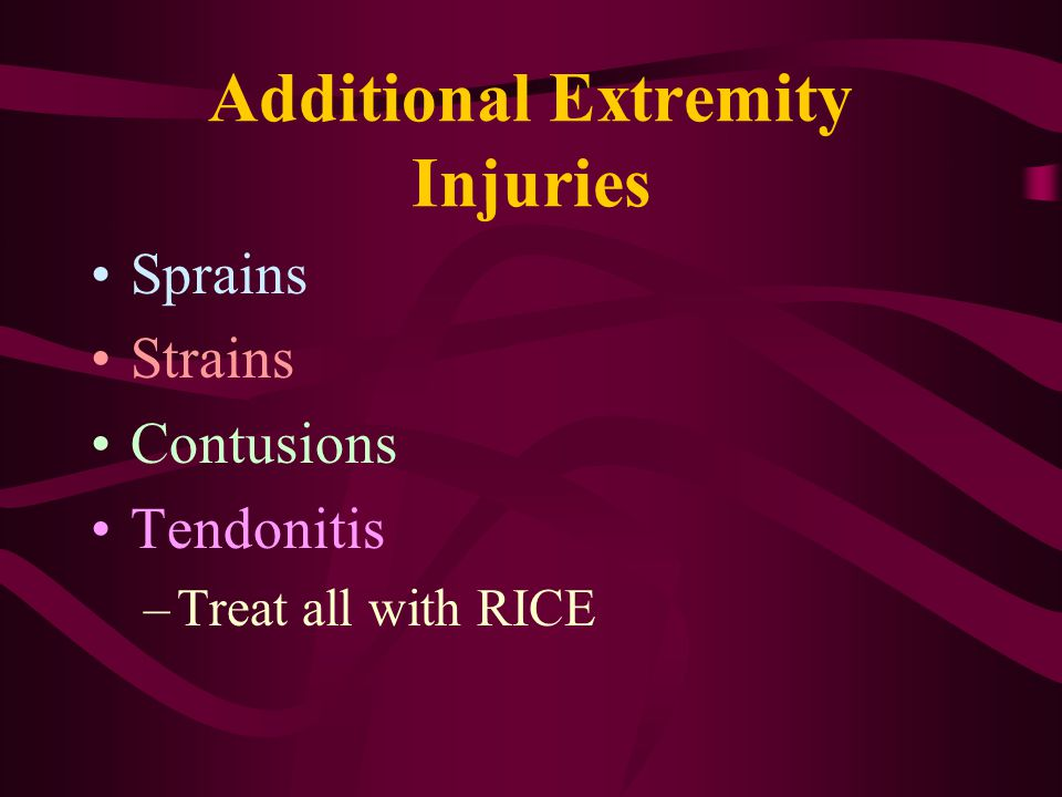Additional Extremity Injuries
