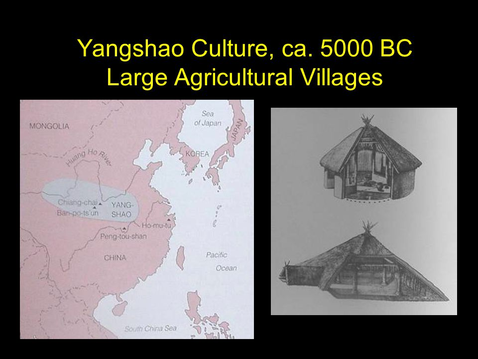 Yangshao Culture, ca. 5000 BC Large Agricultural Villages