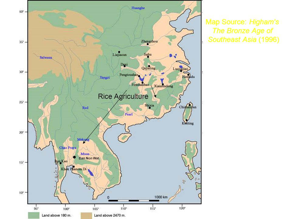 Map Source: Higham s The Bronze Age of Southeast Asia (1996)