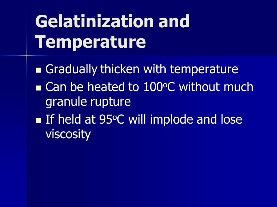 Gelatinization and Temperature
