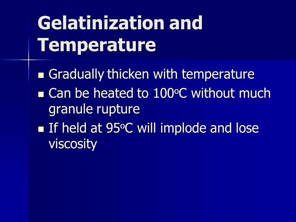 Gelatinization and Temperature
