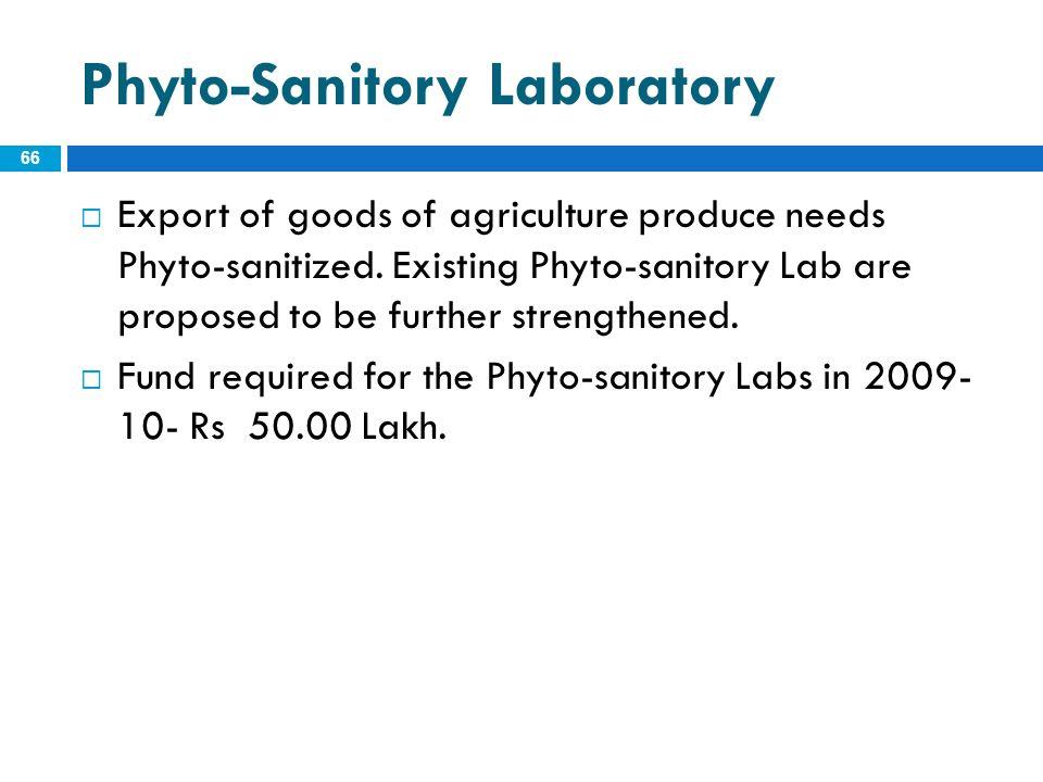 Phyto-Sanitory Laboratory