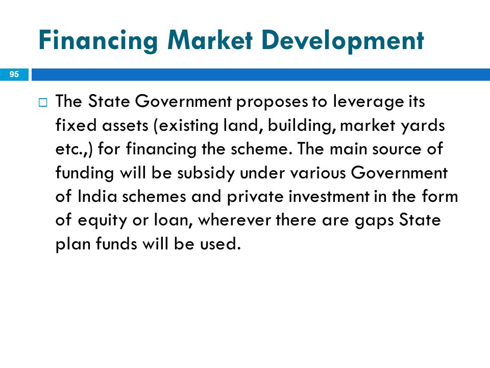 Financing Market Development