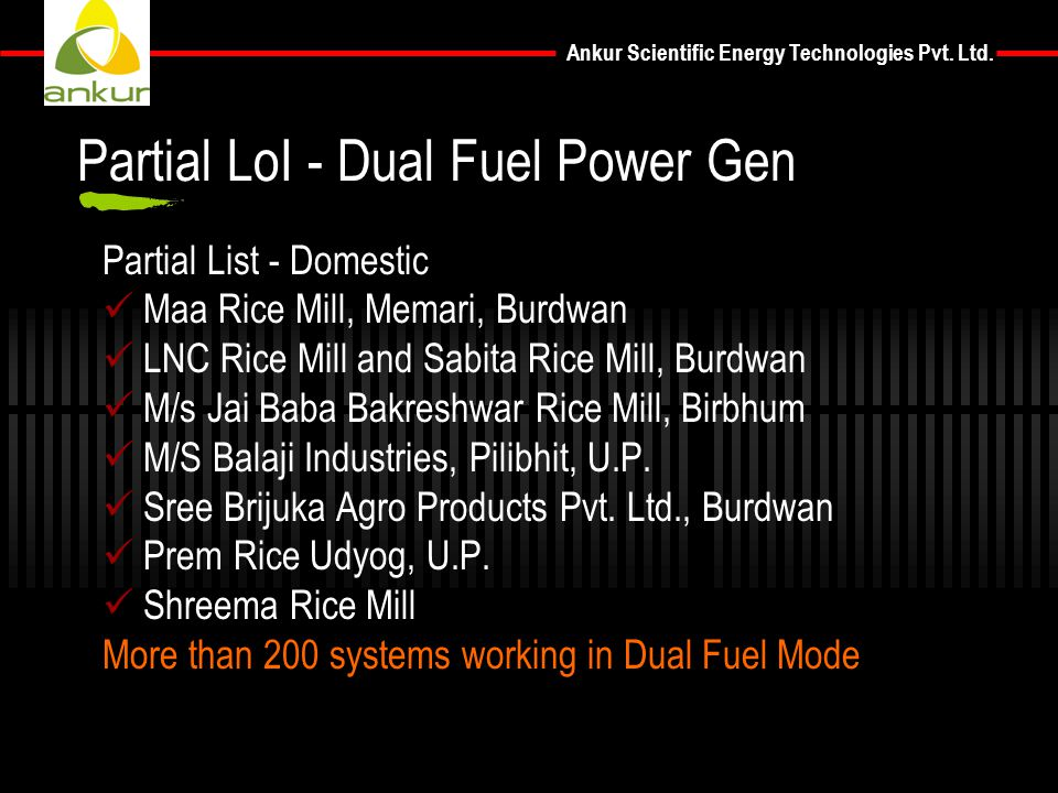 Partial LoI - Dual Fuel Power Gen