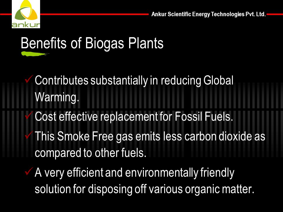 Benefits of Biogas Plants