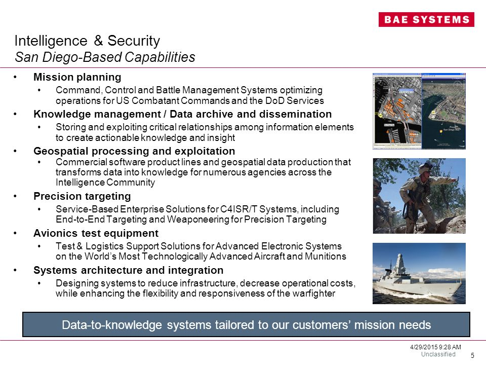 Intelligence & Security San Diego-Based Capabilities