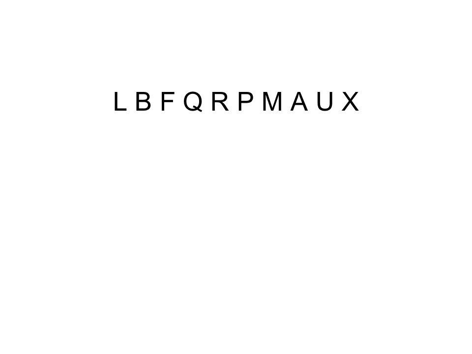 L B F Q R P M A U X