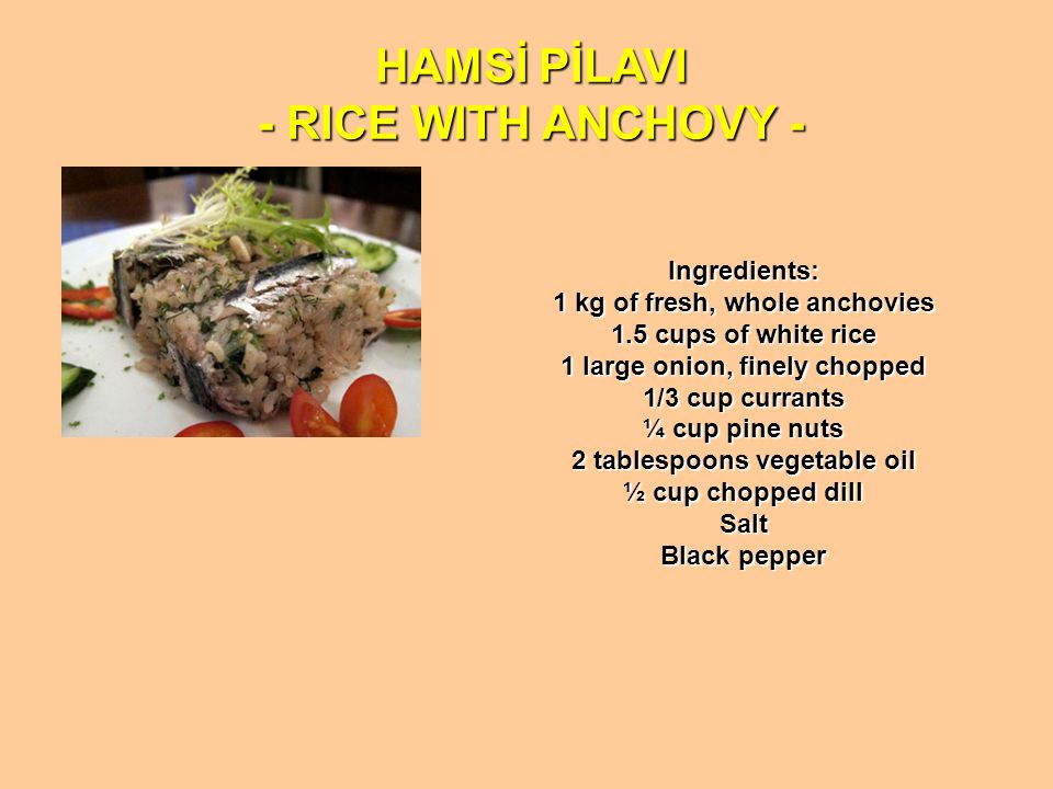 HAMSİ PİLAVI - RICE WITH ANCHOVY -