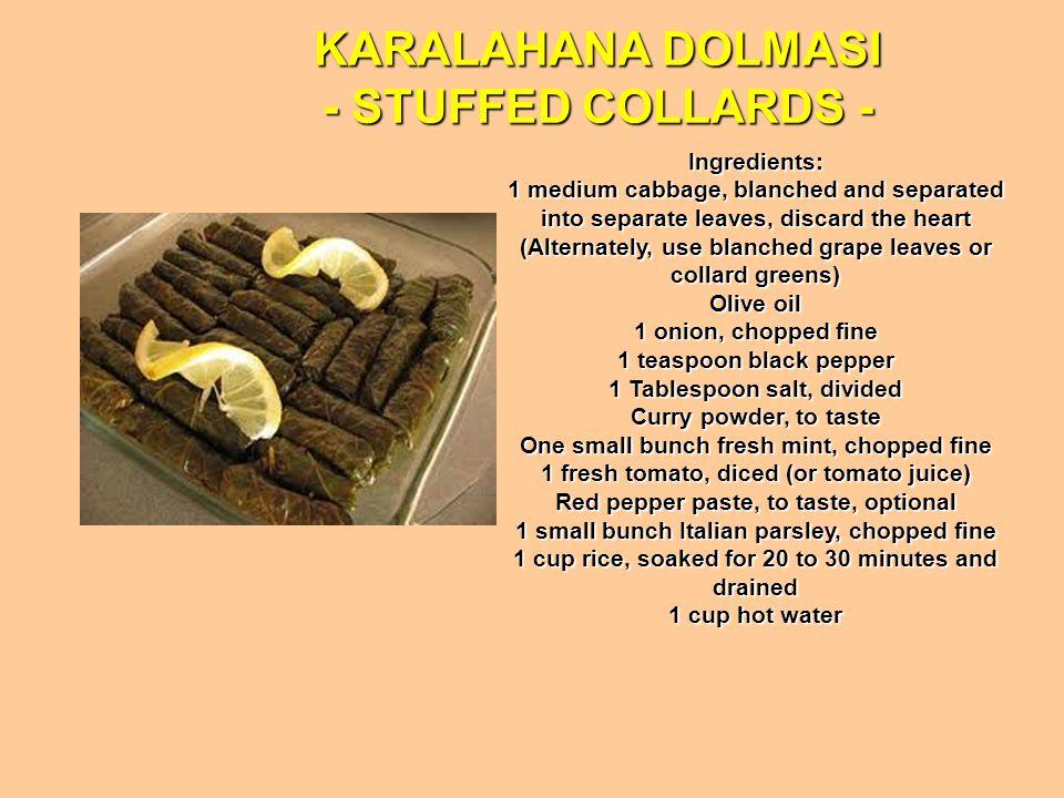 KARALAHANA DOLMASI - STUFFED COLLARDS -