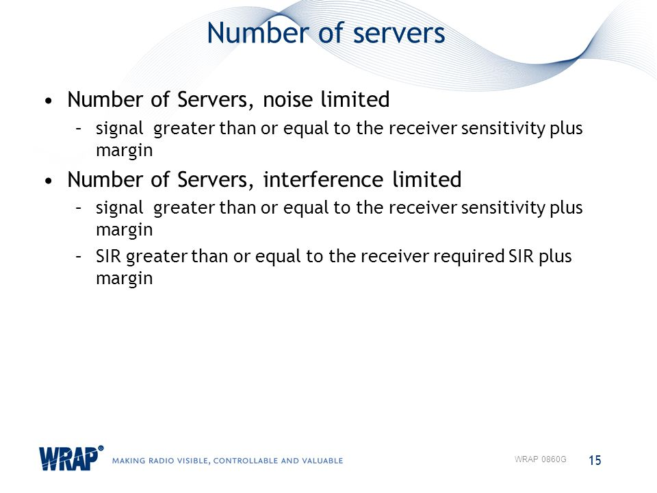 Number of servers Number of Servers, noise limited