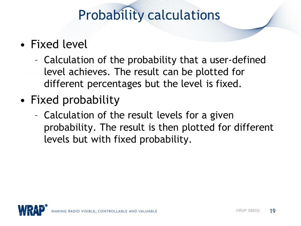 Probability calculations