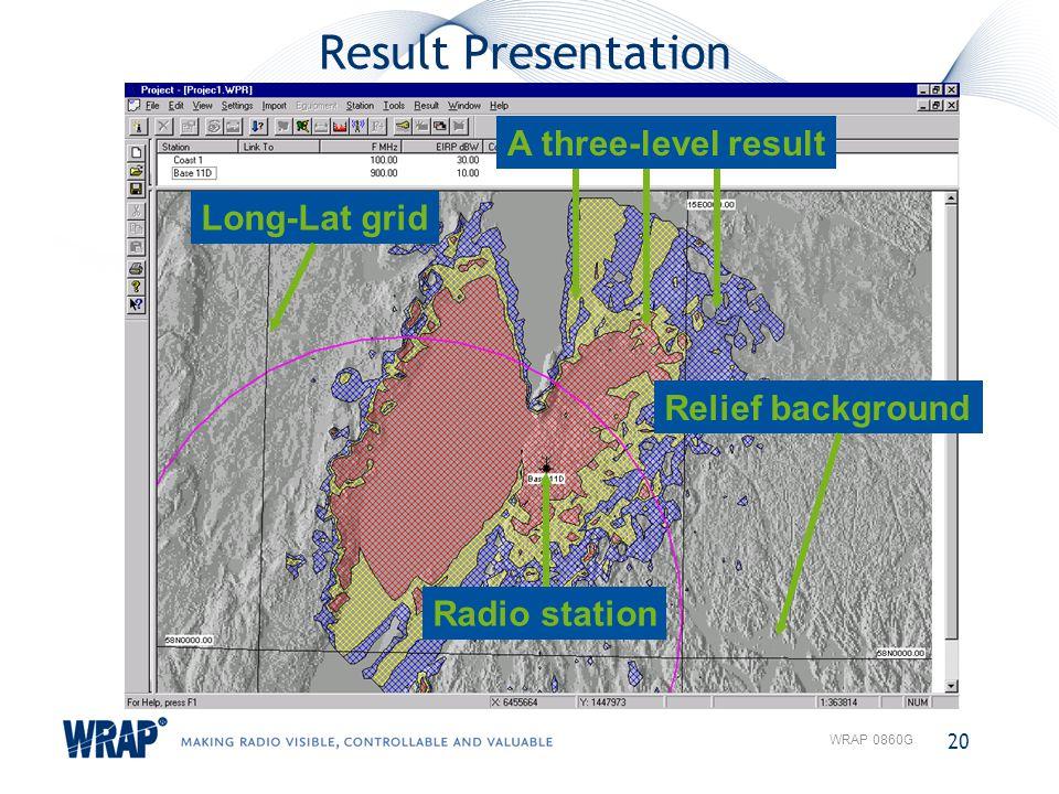 Result Presentation A three-level result Long-Lat grid