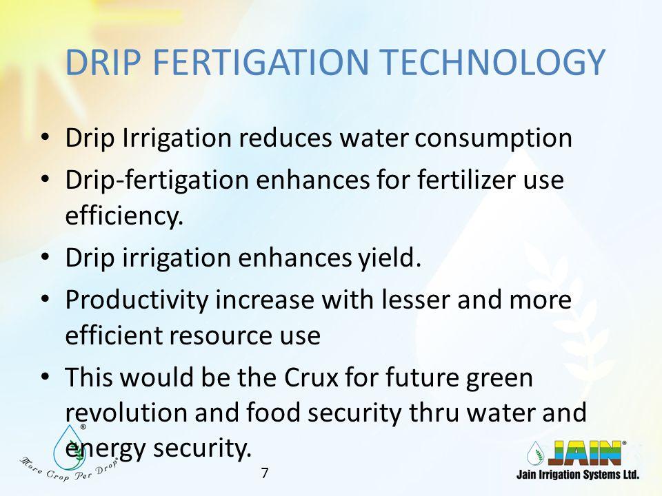 DRIP FERTIGATION TECHNOLOGY