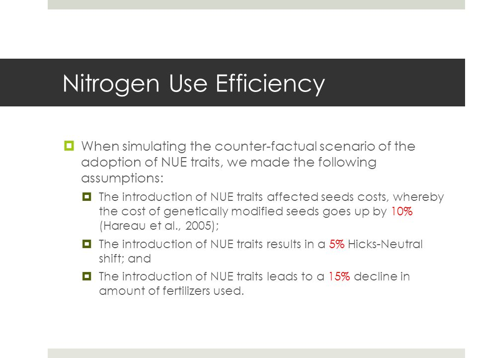 Nitrogen Use Efficiency