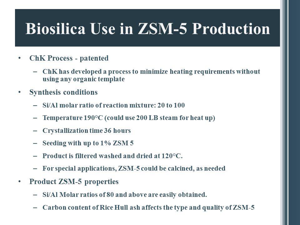 Biosilica Use in ZSM-5 Production