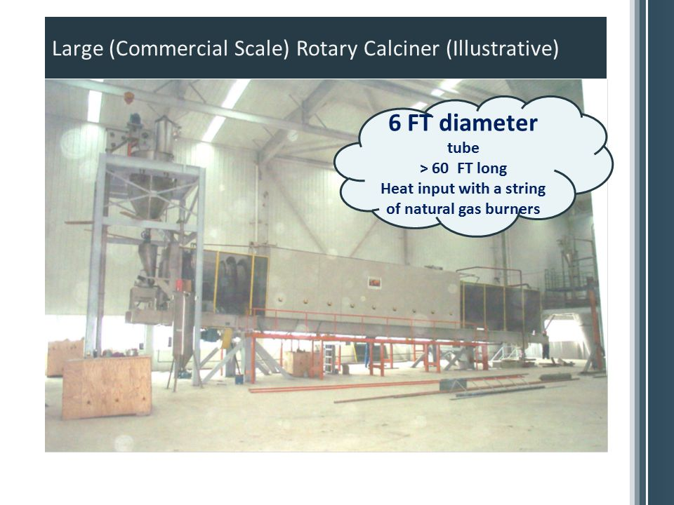 Large (Commercial Scale) Rotary Calciner (Illustrative)