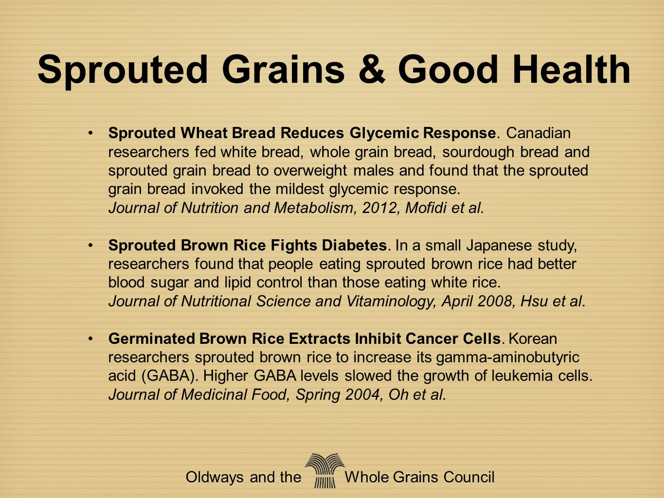Sprouted Grains & Good Health