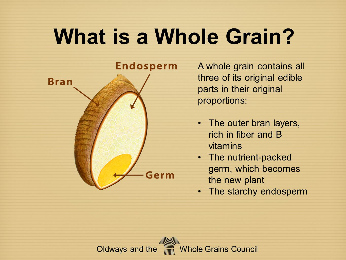 Oldways and the Whole Grains Council