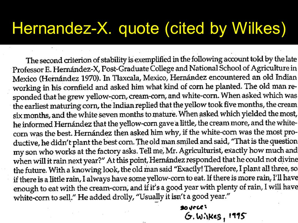 Hernandez-X. quote (cited by Wilkes)